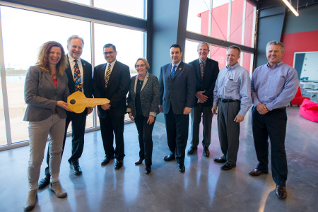 County, World View Officials Mark Completion Of Headquarters, Spaceport Tucson