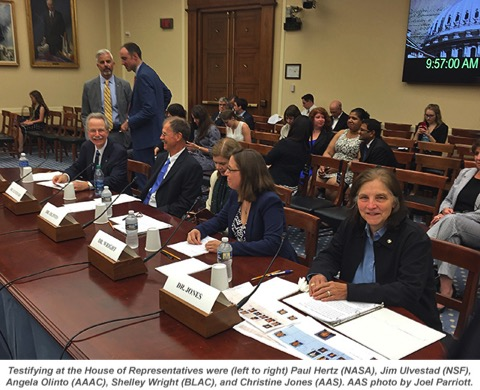 AAS President Testifies To Congress On Why Astronomy Matters