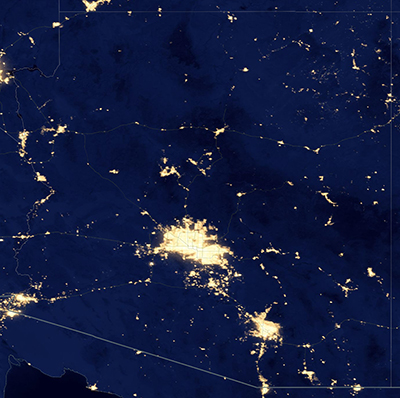 Arizona lights at night